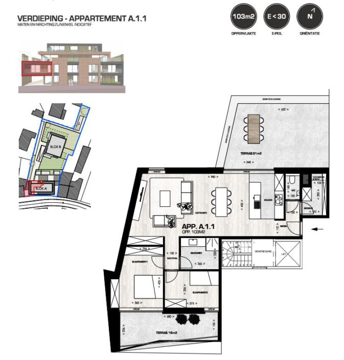 Platte grond appartement